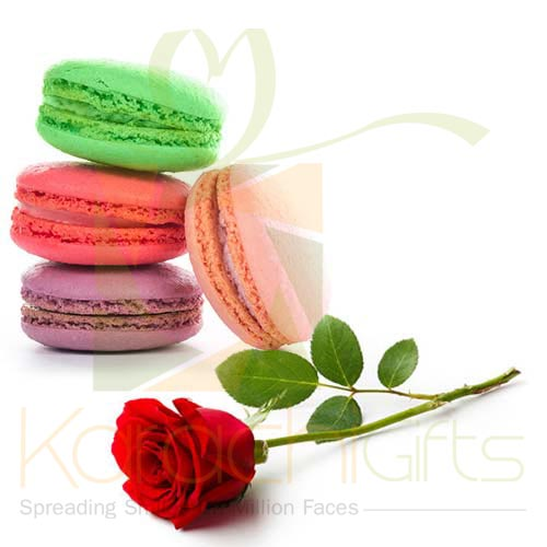 Macaron With Single Rose