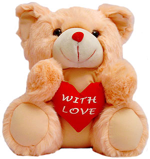 WITH LOVE  .... Teddy Bear (18 inches)