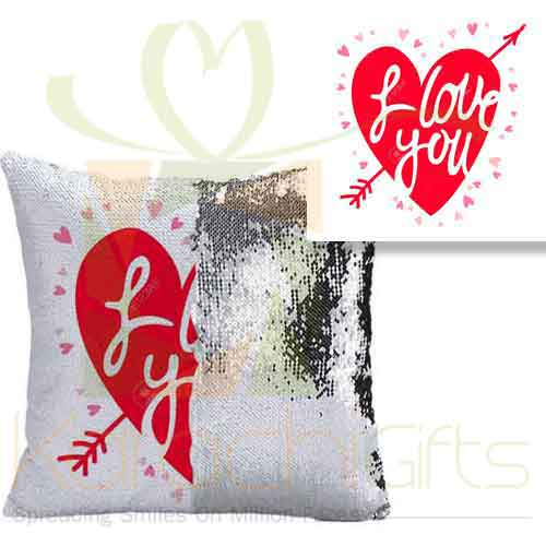 I Love You Sequin Cushion 2