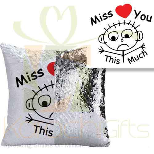 Miss You Sequin Cushion 1