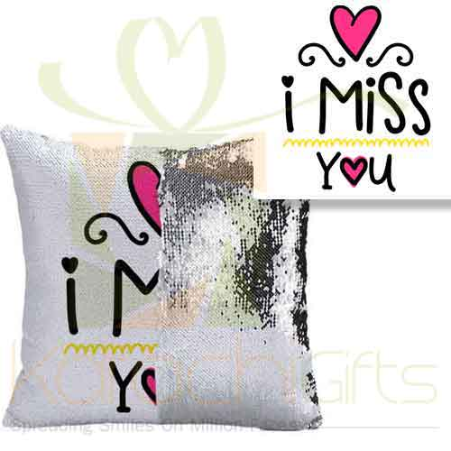 Miss You Sequin Cushion 2