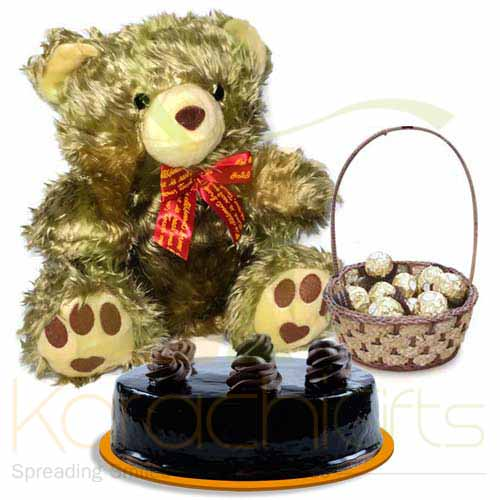 Teddy Cake With Chocolates