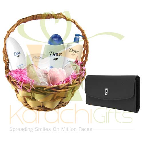 Dove Bath Kit With Wallet