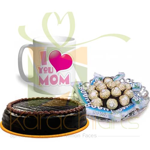 Chocolates, Cake And Mug For Mothers Day