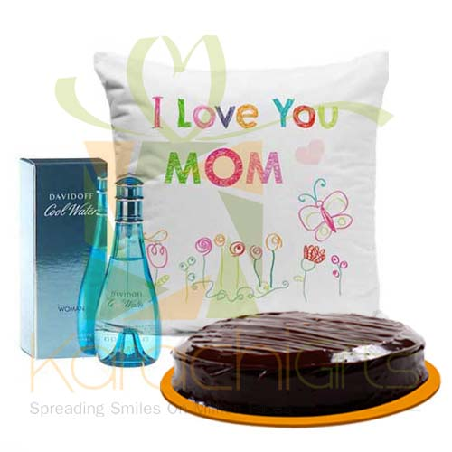Perfume Cake And Cushion For Mom