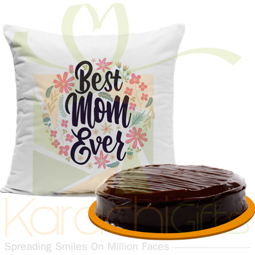 Best Mom Cushion With Cake