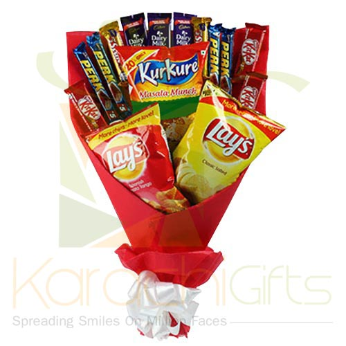 Mix Chocs n Chips Bouquet