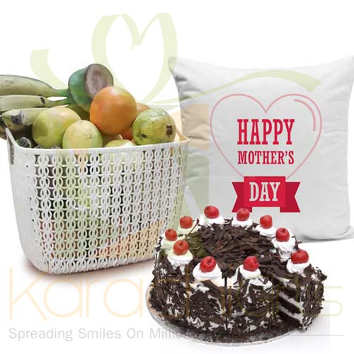 Fruits Cushion Cake For Ammi