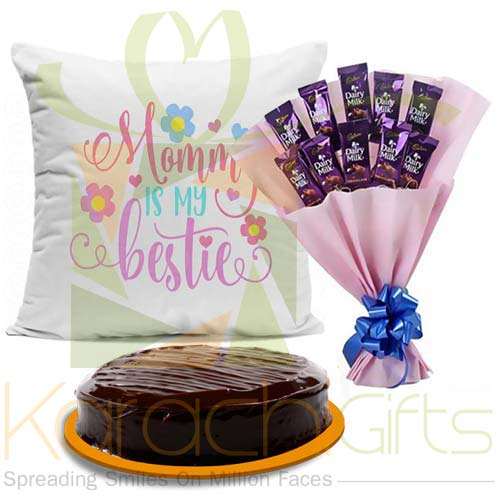 Cushion Cake And Cadbury Bouquet