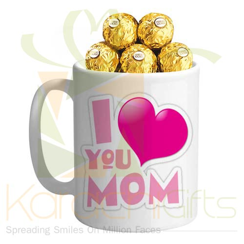 Love You Mom Mug With Chocs