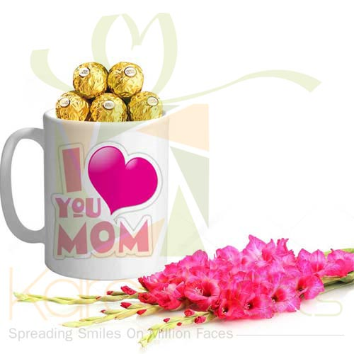 Glads And Choc Mug For Mom