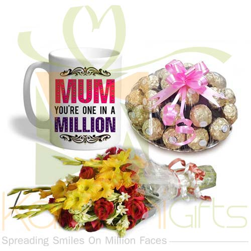 Chocs Mug Bouquet For Mom