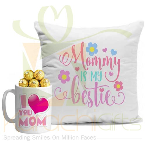 Cushion With Choc Mug For Ammi