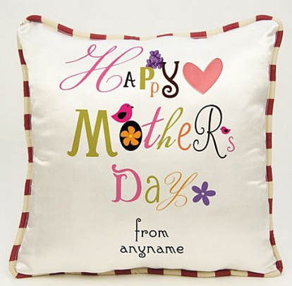 Happy Mothers Day - Personalised Heart Cushion