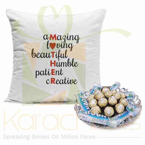 Mother Cushion With Choco Tray