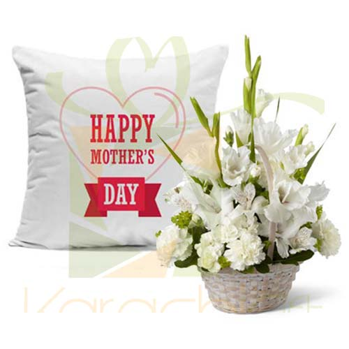 Cushion With Glads For Mom