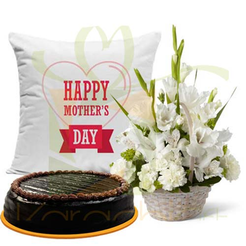 Cake And Cushion With Glads For Mom