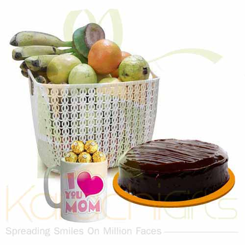 Fruits Cake With Choc Mom Mug