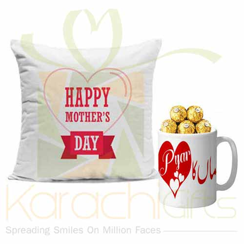Mother Day Cushion With Choc Mug
