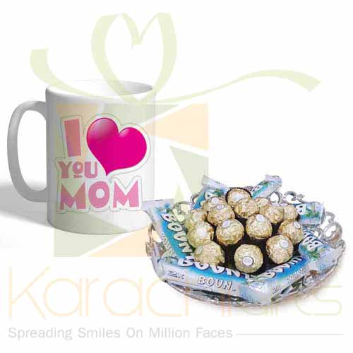 Mom Mug With Choc Tray