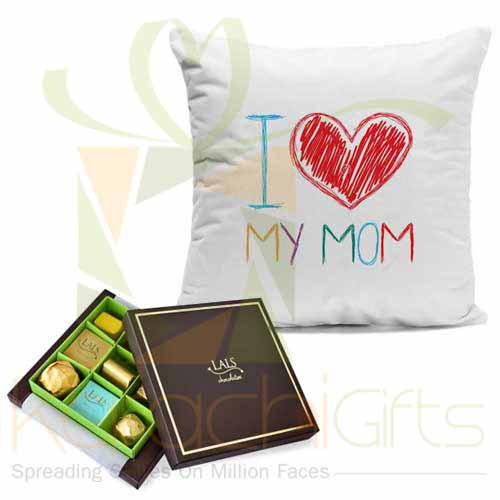 Mom Cushion With Chocs
