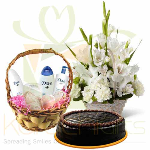 Cake With Freshness Baskets