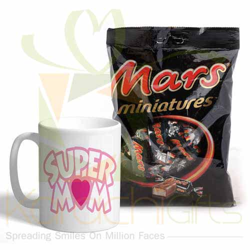 Mars Pouch With Super Mom Mug