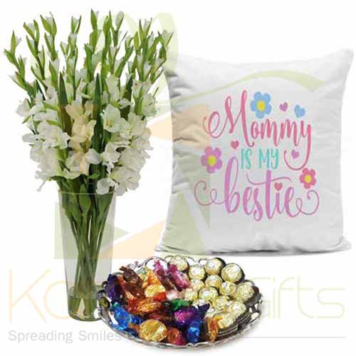 Cushion Chocs Flowers For Mom