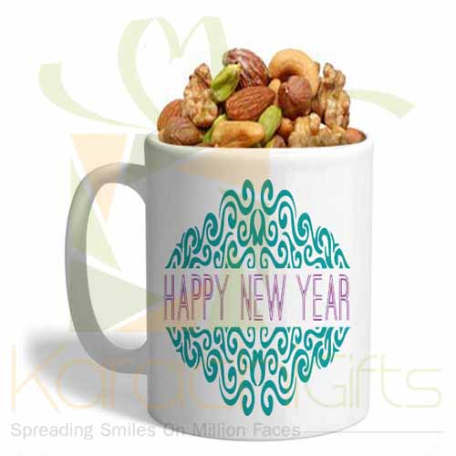 Dry Fruits In A New Year Mug