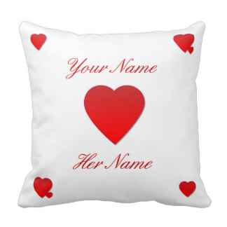 Personalized Heart Cushion