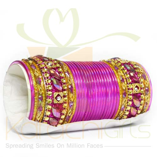 Bridal Choori Set (Pink)