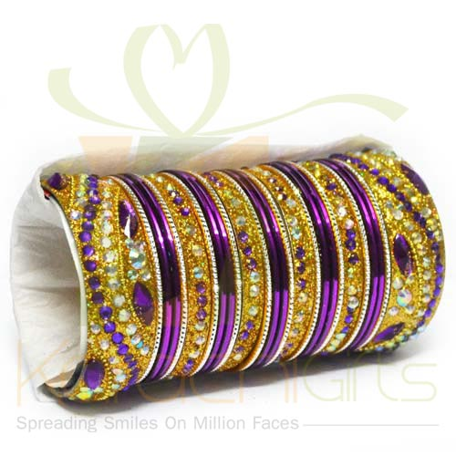 Bridal Choori Set (Purple)