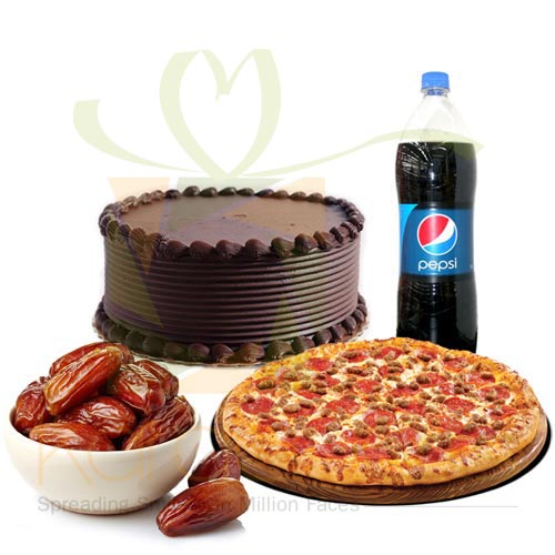 Pizza With Cake n Dates