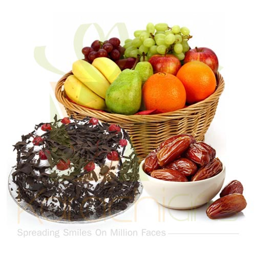 Fruits With Cake and Dates