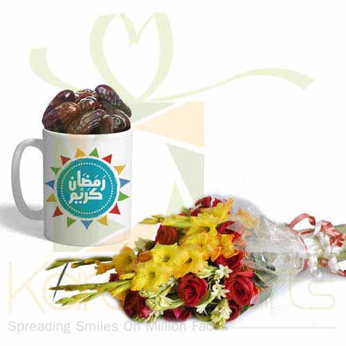 Ramadan Choc Mug With Flowers