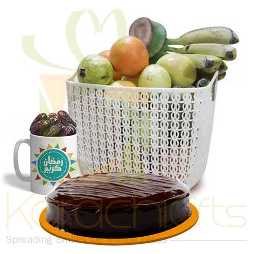 Ramadan Mug With Fruits And Cake