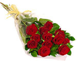 24 Red Roses with Gift Wrap