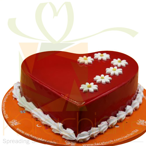 Red Heart Cake By Sachas