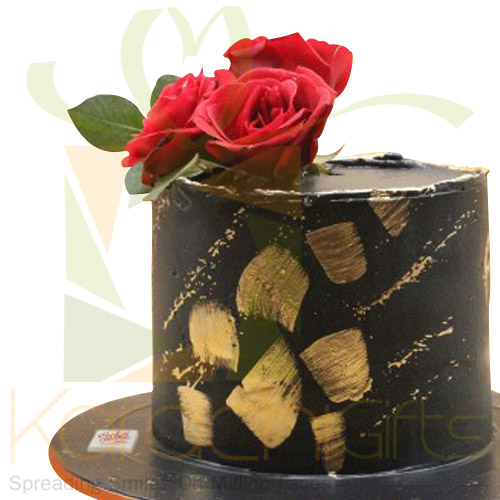Black Beauty With Rose Cake By Sachas
