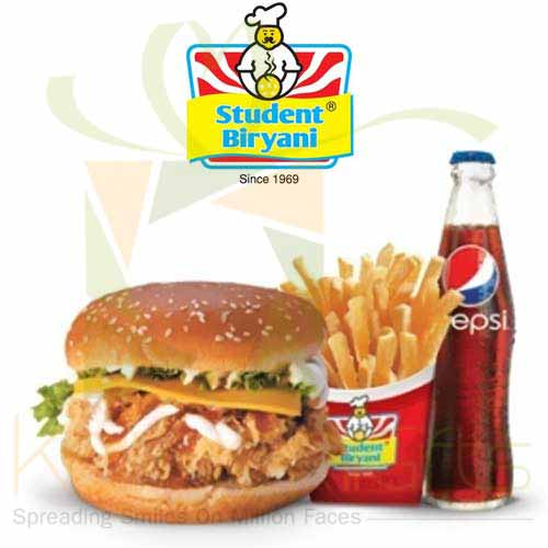 Chicken Burger - Student Biryani