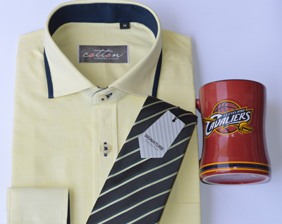 Portofino Shirt + Signature Tie + NFL Coffee Mug