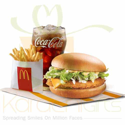 Spicy Chicken Burger with Cheese-(Mc Donald)
