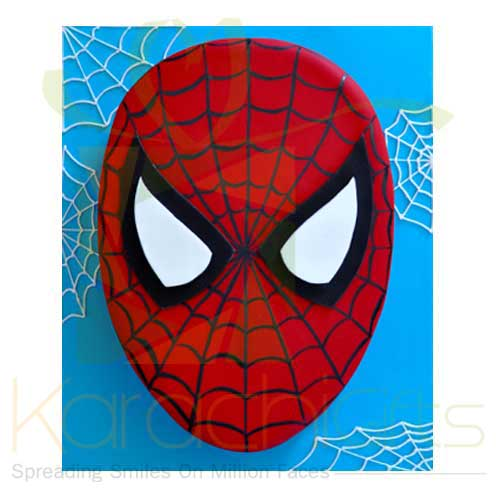 Spider Man Face Cake (5lbs)