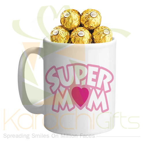 Rochers In A Super Mom Mug