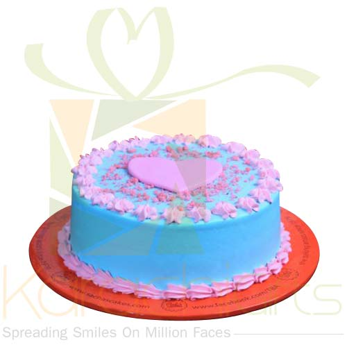 Turquoise And Pink Cake By Sachas