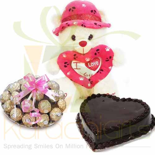 Love Bear Choc Tray And Cake