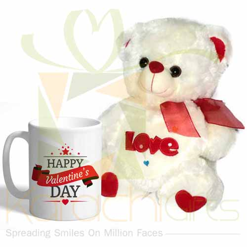 Love Bear With Valentines Mug