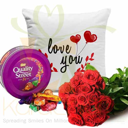 Roses Chocs Cushion