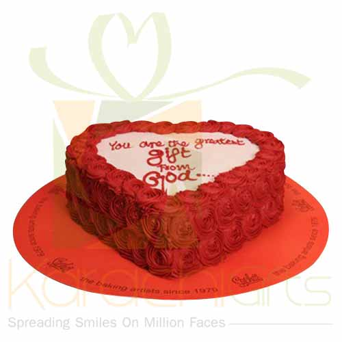 Heart Red Flowers Cake - Sachas
