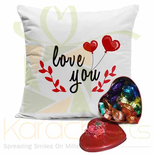 Love Greetings (Cushion With Choco Box)